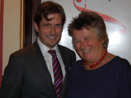 Jamie Crick and Natalie Wheen