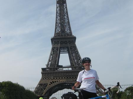 End of London to Paris Cycle