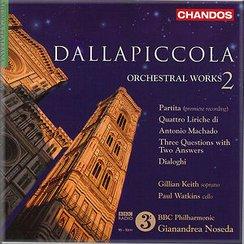 Dallapiccola Orchestral Works, Vol.2