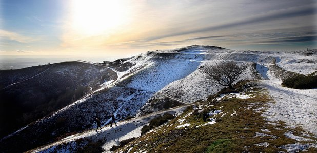 Elgar inspiring landscape: Malvern Hills in the snow