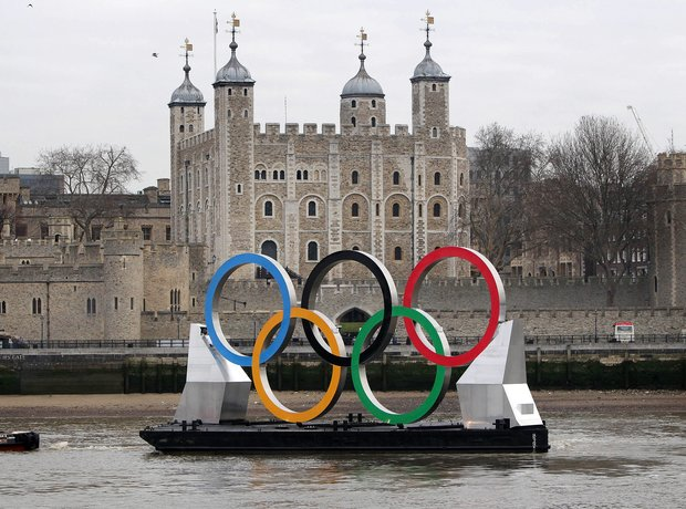Olympic Rings launched on the Thames