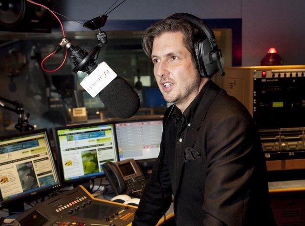 Jamie Crick in the Classic FM Studio
