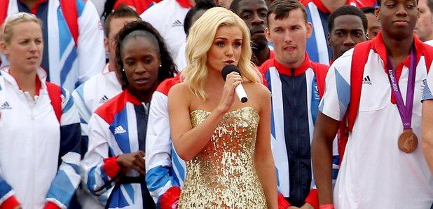 Katherine Jenkins sings the National Anthem