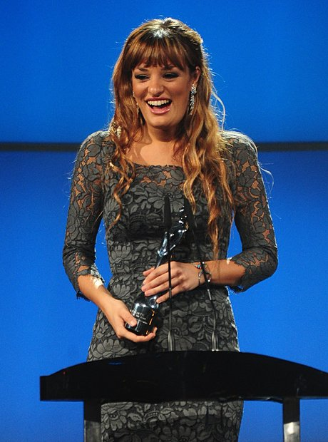 Nicola Benedetti on stage at the Classic BRIT Awar