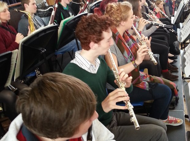 City of Belfast Youth Orchestra wind section