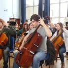 City of Belfast Youth Orchestra cellos