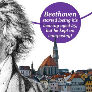 beethoven started losing his hearing aged 25, but