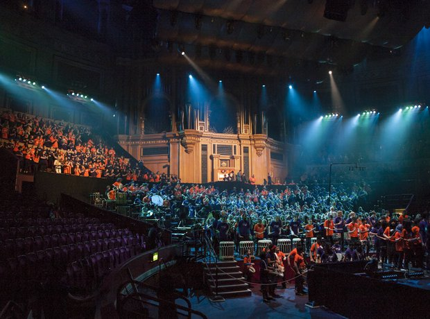 Bradford Massed Ensemble schools prom rehearsal 1