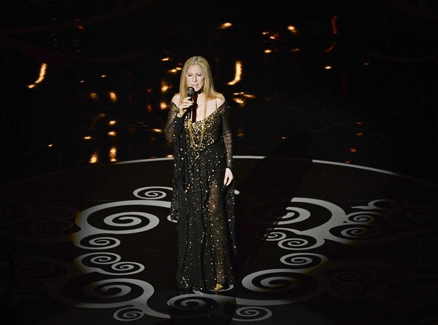 Barbra Streisand performs at the Oscars 2013