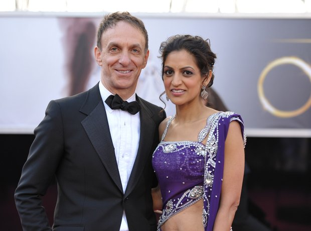 Mychael Danna and Bombay Jayashri at the Oscars 20