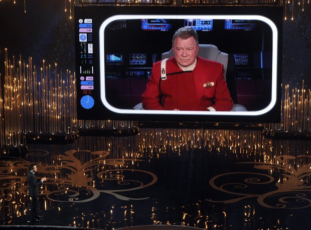 Seth MacFarlane and William Shatner Oscars 2013 Aw