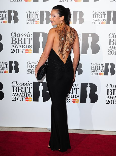 Laura Wright at the Classic Brit Awards 2013
