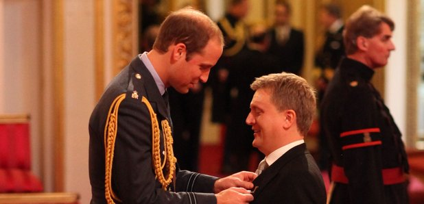 Aled Jones MBE Prince William Duke of Cambridge