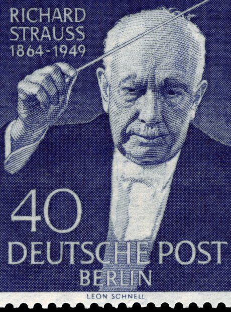 Richard Strauss stamp death
