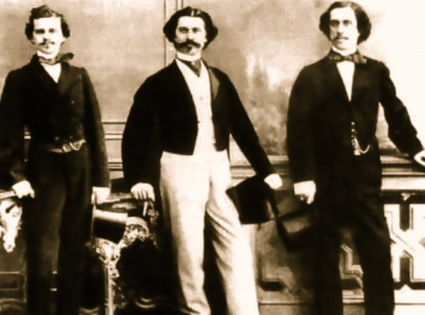 Strauss brothers Johann Eduard Josef
