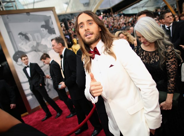 Jared Leto at the Oscars 2014