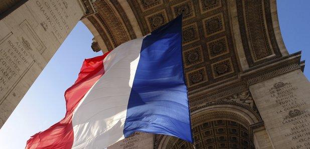 tricolour france french flag arc de triomph