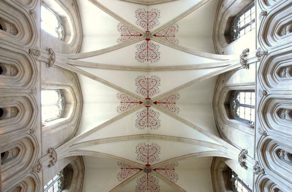 Wells Cathedral vaulted roof