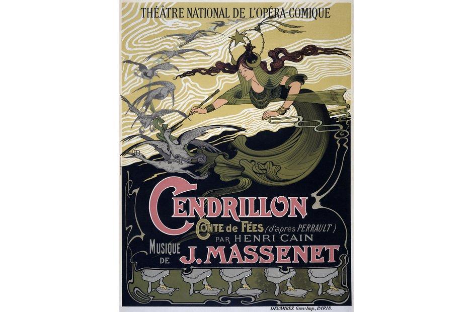 Vintage opera poster Cendrillon
