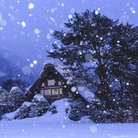 Winter scene cottage