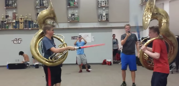 This epic 'Star Wars' sousaphone battle is all kinds of ...