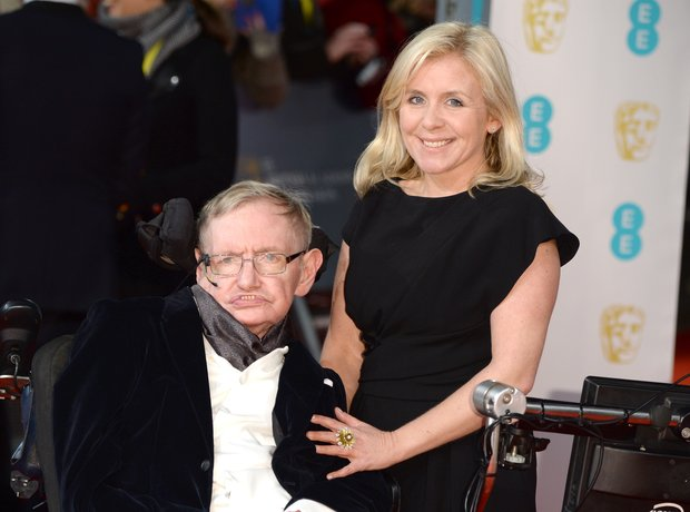 Stephen Hawking at the Baftas