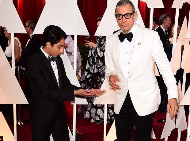 Anthony Quinonez and Jeff Goldblum