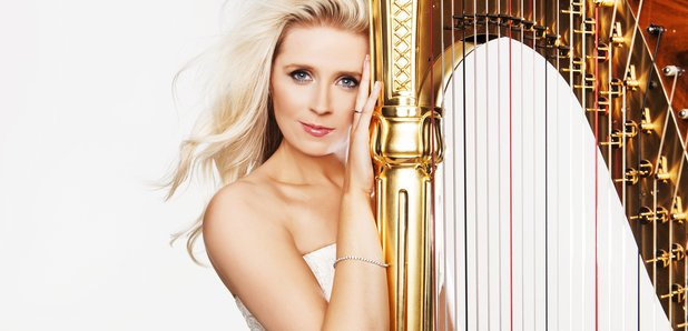 Claire Jones with harp