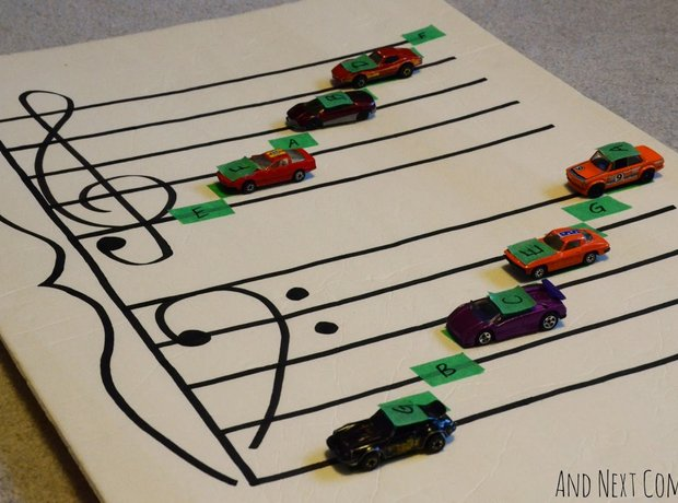 Teach children music theory