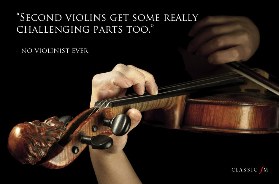 things violinists never say