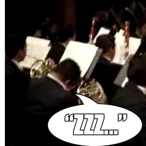 sleeping horn player