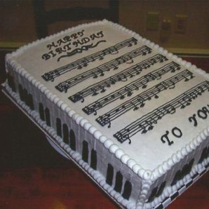 happy birthday music theory cake
