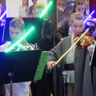 Star Wars violin lightsabers