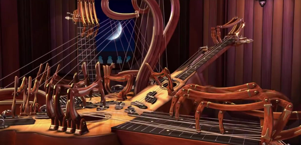 computer-animated string instrument