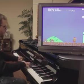 mario theme piano