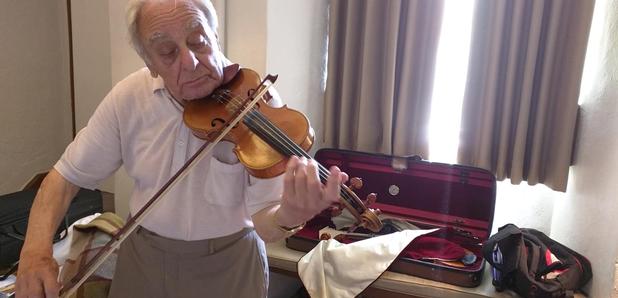 Charles Barren violin at Dartington