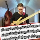 Bach on six-string electric bass guitar