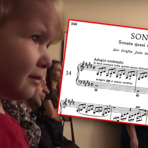 kid cries at beethoven