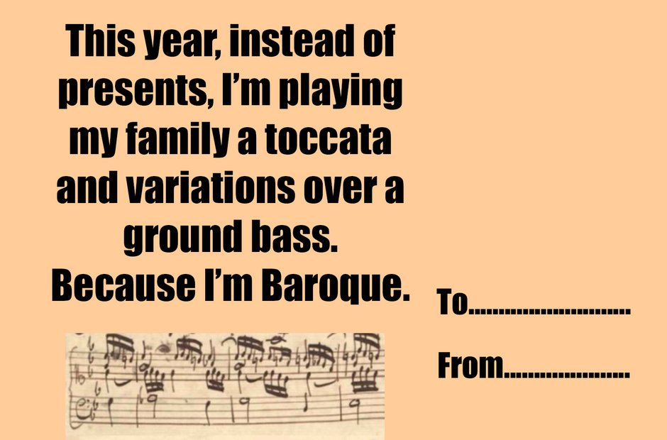 Music geek Christmas greeting cards